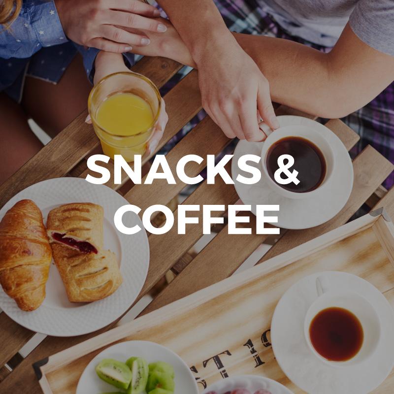 Imagen de snacks y cafÉ