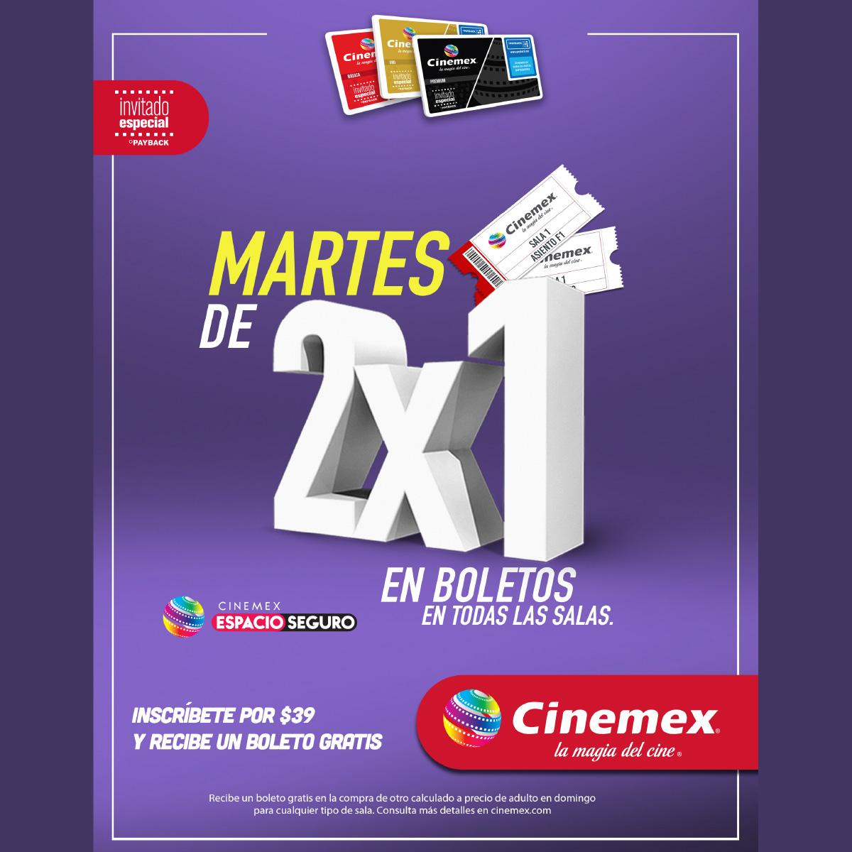 Promoción 3 De Cinemex